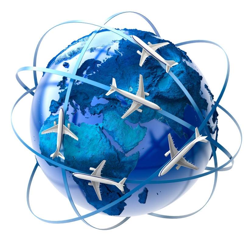 International air travel
