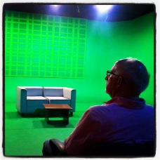 Sitting In the Big Impressive Studio